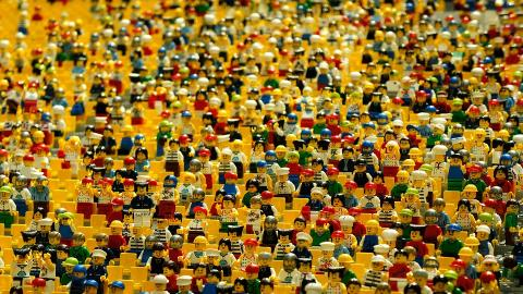 A lot of LEGO people