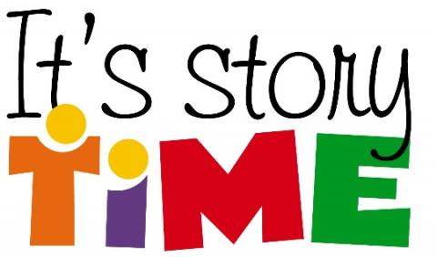 "Graphic that says, ""It's Story Time"""