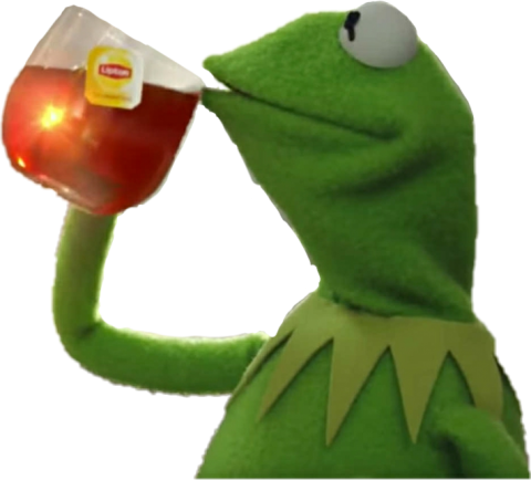 kermit the frog drinking tea